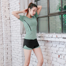 2019 net red yoga clothg female new gym runng clos loose quick-dryg clos fitness