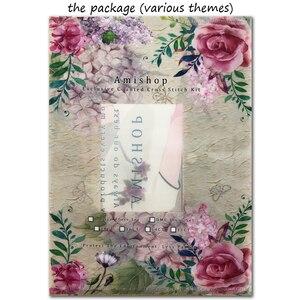 Image 4 - مجموعة غرز متقاطعة رائعة ذات جودة عالية الأعلى مبيعًا بنقشة زهور رومنسية وكمان قاتم 35185