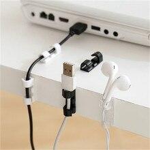 20pcs/10pcs Super Adhesive Desktop cable organizer USB Charge Cord Clips Management Holder Data Telephone Line Cable Winder