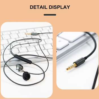 KISSCASE Volume Control Wired Earphone headphones 3.5mm With Mic Music Stereo Bass Headset For Samsung Xiaomi Earphone headphone 1
