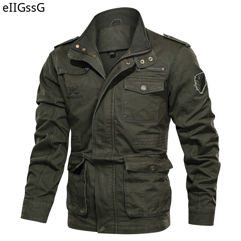 2021 Men's Clothing Outdoor Large Size Casual Cotton Jacket Special Forces Combat Jacket Military Work Jacket Coat Streetwear