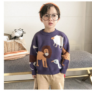Sweter dziecięcy sweter dzianinowy sweter chłopięcy sweter dzianinowy sweter dziecięcy sweter dziecięcy sweter dziecięcy 1-9Y tanie i dobre opinie dibeberabbit CN (pochodzenie) COTTON Z wełny Na co dzień Cartoon REGULAR O-neck Unisex baby sweater Pełna NONE Pasuje prawda na wymiar weź swój normalny rozmiar
