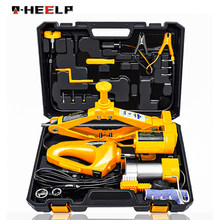 E-HEELP Car Jack Lifting Set 12V 3 in 1 Electric Car Jack Kit With Impact Wrench & Air Pump Electric Jack For Car