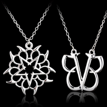 BLACK VEIL BRIDES Necklace punk BVB Logo Stainless Steel Jewelry Necklace Emo Steampunk Gothic Band Merch Necklace black veil brides black veil brides black veil brides