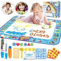 Magic Water Drawing Reusable Coloring Mat Doodle Mat & Pens Baby Play Mat Rug Montessori Toys Painting Board Educational Toys