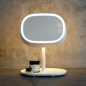 Image 2 - Rechargeable Touch Screen Lighted Makeup Mirror LED Bedside Lamp Table Stand Cosmetic Mirror Night Light