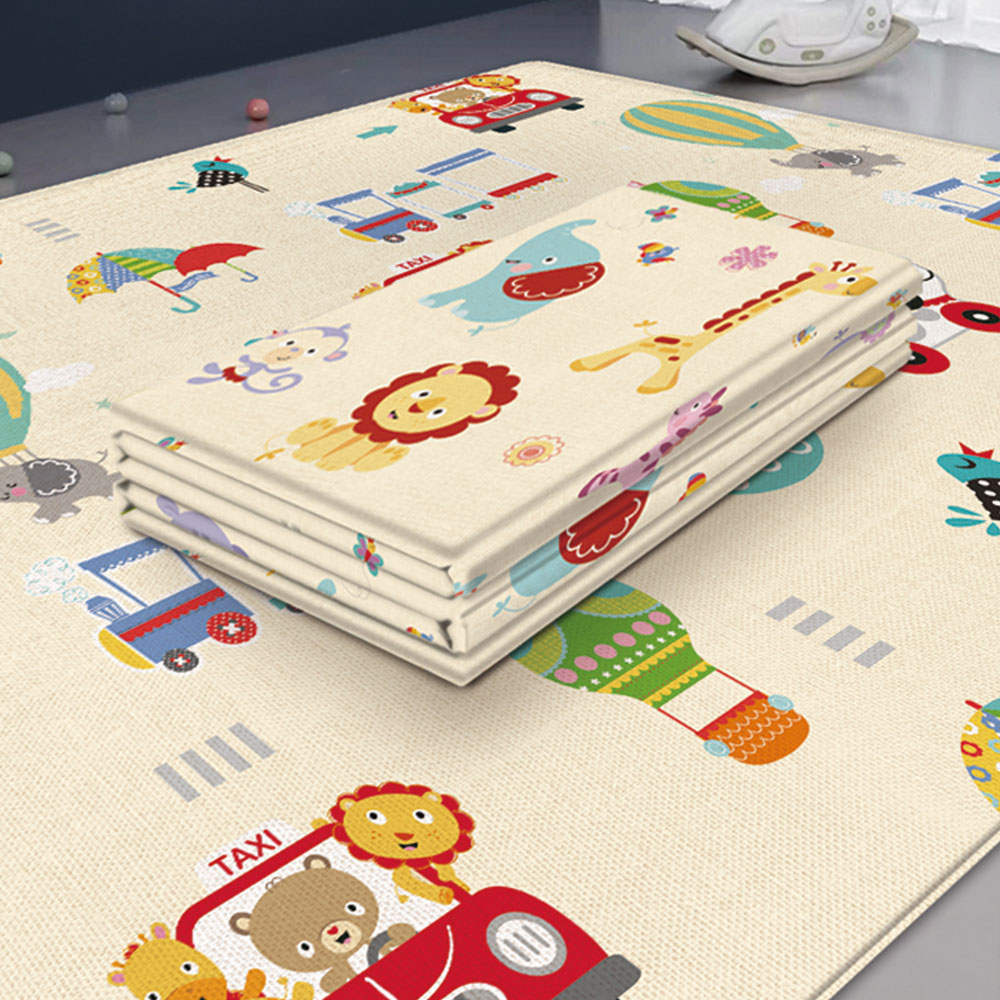 180*100cm Baby Play Cartoon Animal Mat Crawling Pad Folding Thickening Household Children Free Floor Soft Parent-Child Game Mats