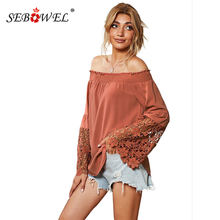 Sebowel women's blouses shirts fall fashion long sleeve