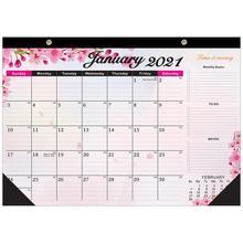 2021 kalendarz ścienny-12 miesięcy wiszący kalendarz ścienny kolorowy kalendarz idealny do szkoły biura i domu planowanie i organizowanie tanie tanio CN (pochodzenie) Nowoczesne Rectangle Other