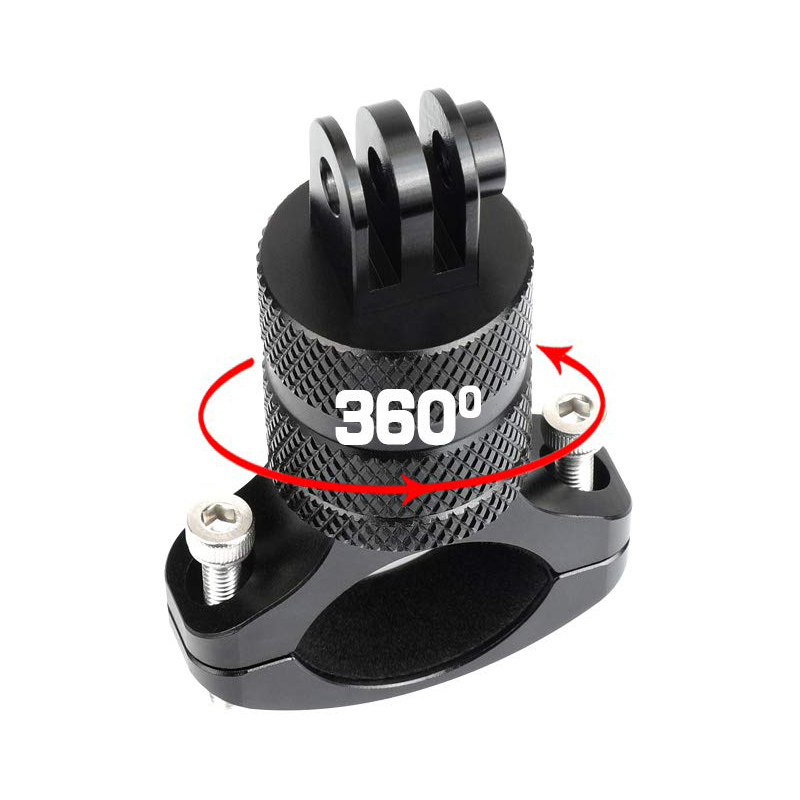 Bicycle Motorcycle Handlebar Aluminum Clamp Holder Tripod Mount For GoPro Hero 8 7 6 5 Yi 4K Sjcam Eken For Go Pro Accessory