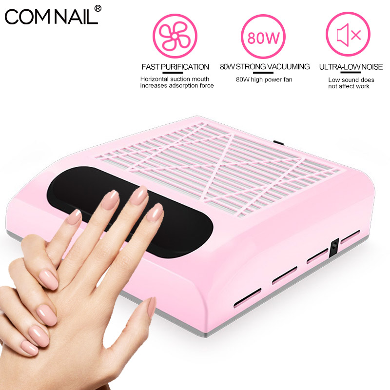 80W Strong Adjustable Speed Collector For Nail Dust Fan Vacuum Cleaner For Manicure Vacuum Suction Nail Salon Art Equipment Tool