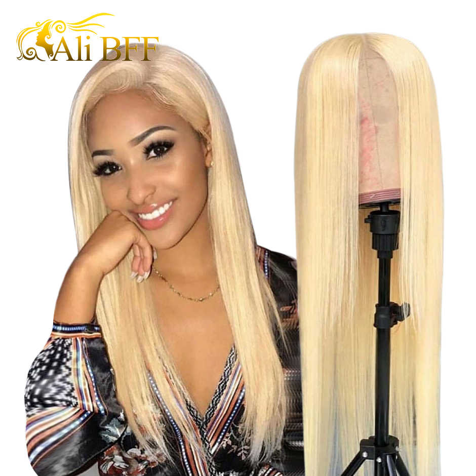 613 Blonde Lace Front Wig Brazilian Straight 13x4 Lace Front Human Hair Wigs  ALI BFF HD Transparent lace wig