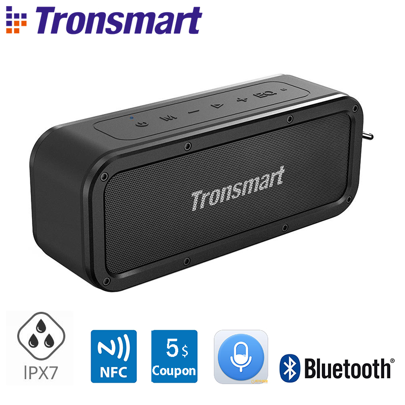 Tronsmart Force Speaker Bluetooth 5.0 Portable Speaker 40W Speakers IPX7 Waterproof With Voice Assistant,TWS,NFC Double Eleven