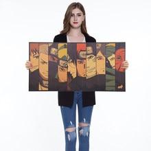 1pc anime cartaz de papel kraft cafe bar retro dos desenhos animados cartaz pintura decorativa arte adesivos parede decoração da sua casa