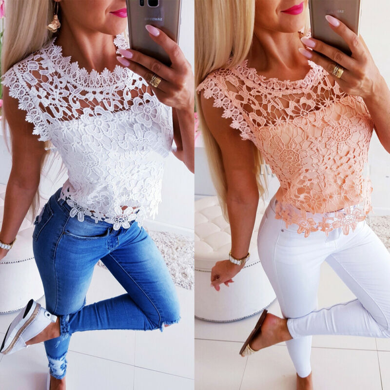 Women Short Sleeve T-shirt Lace Womens Casual Solid O-Neck Tee T-shirt Tops Blusa Summer White Shirt Tees Clothes Hollow Out
