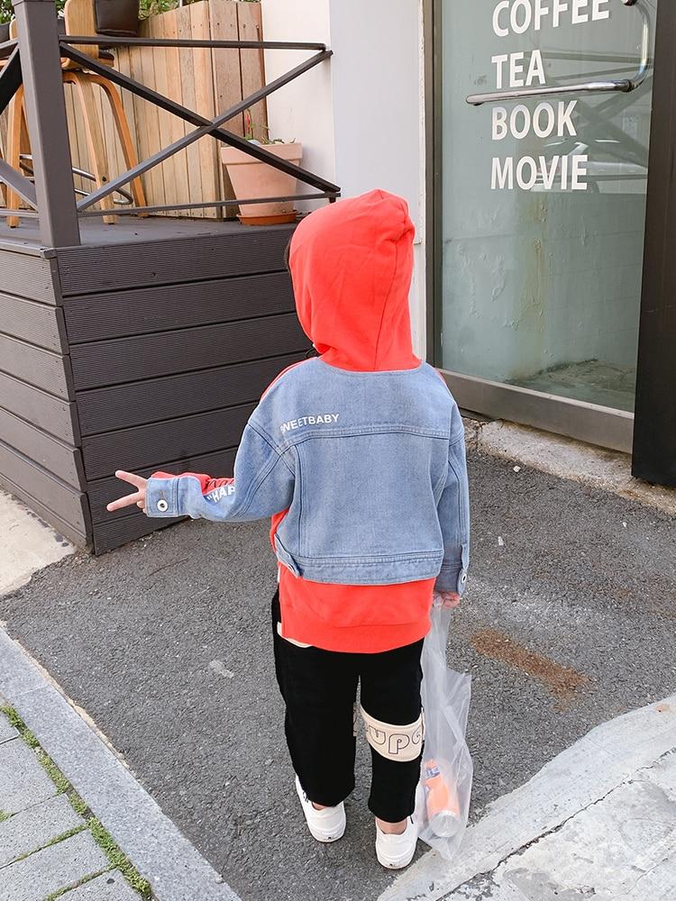 Boys Hooded Sweatshirts chun qiu kuan Children, Spring 2021) New Tops Baby Loose Long-Sleeved Spring Chichi-Music of the Tide 4