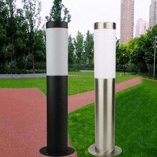 E27 Водонепроницаемый Нержавеющаясталь колонна светильник на открытом воздухе садовый светильник Алюминий столб светильник для газона, бл...