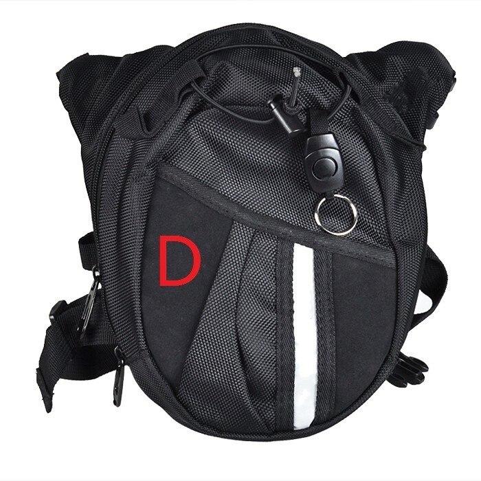 Дополнительная нейлоновая черная поясная сумка из полиэстера для мотоцикла или велосипеда