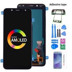 Оригинальный Super AMOLED ЖК-дисплей с дигитайзером сенсорного экрана в сборе для SAMSUNG Galaxy A6 2018 A600 A600F A600FN