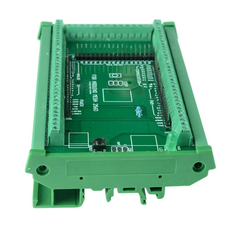 DIN Rail Mount Sekrup Terminal Blok Adaptor Modul untuk MEGA-2560 R3.