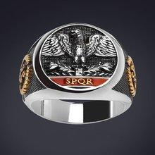 Criativo do vintage imperial águia romana anel para homens legião império águia masculino anel de noivado casamento jóias presente
