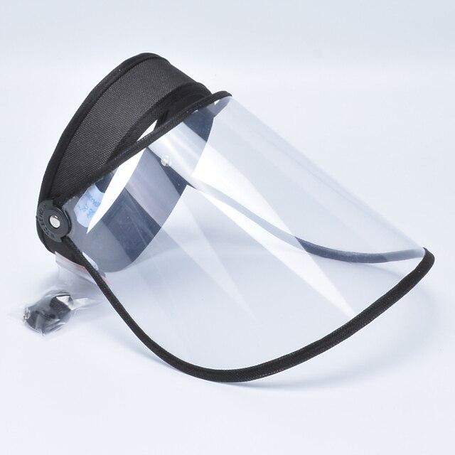 Anti Saliva Anti-Oil Splash Face Shield Full Face mask  Ultra-light Soft Plastic  Respirator Маска 4