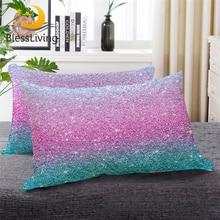 Постельные принадлежности с цветными блестками, Подушка для сна, блестящая пуховая Альтернативная подушка для девушек, бирюзовый, розовый, пастельные цвета, постельные принадлежности, 1 шт