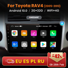 AWESAFE PX9 para Toyota RAV4 RAV 4 2005 - 2013 auto Radio Multimedia reproductor de Video GPS de navegación No 2 din 2din DVD Android 10