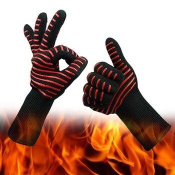 Огнеупорные перчатки, термостойкие перчатки для барбекю, Арамидные водонепроницаемые перчатки для микроволновой печи