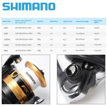 NEW Best SHIMANO FX Fishing Spinning Reel 2000-C4000 max drag 4kg/8.5kg Fishing Reels cb5feb1b7314637725a2e7: 2000|2500|2500HG|4000|C3000