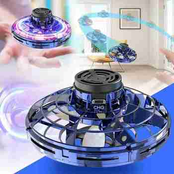 Mini Fingertip Flying Gyro UFO Hand Induction Gyro Fingertip Flying Spinner Toys For Kids Adults Gift UFO Gyro Stress Relief Toy