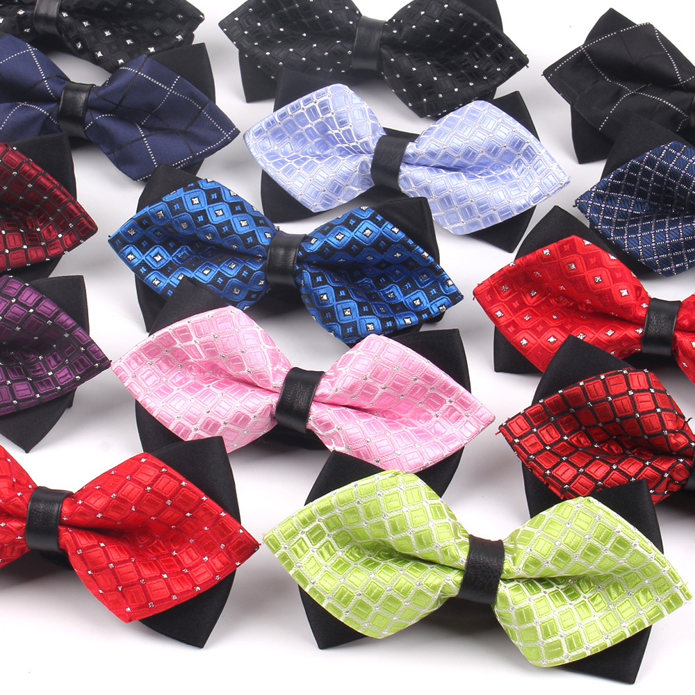 Fashion Men Bowtie Classic Shirts Bow Tie For Men Women Bowknot Adult Pointed Bow Ties Cravats Wedding Plaid Bowties