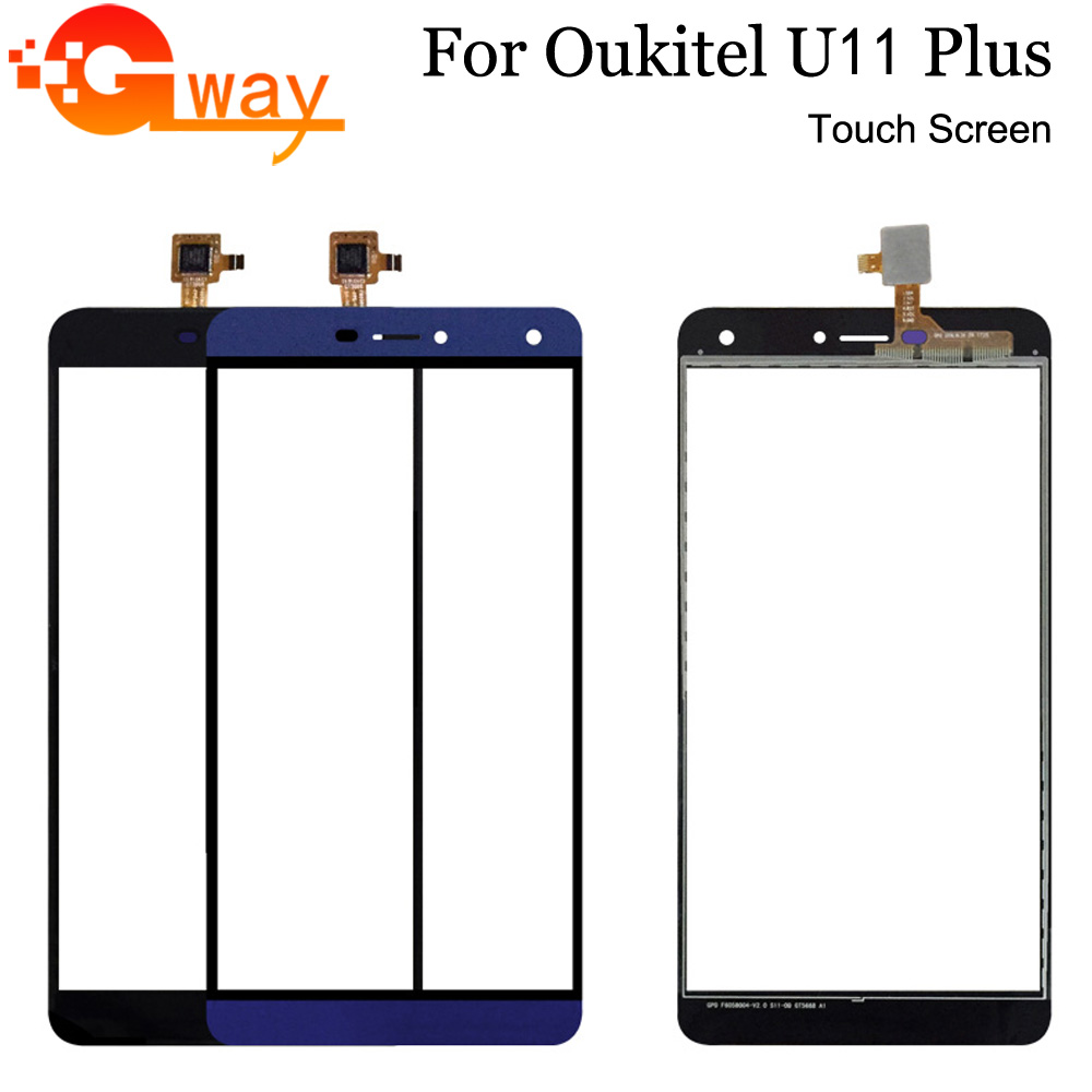 Touch Panel For Oukitel U11 Plus Front Touch Screen Digitizer Sensor Glass With Tools And Adhesive