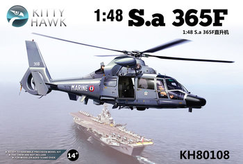 Kitty Hawk KH80108 1/48 Scale France SA.365F Dauphin II Military Helicopter Collectible Toy Plastic Assembly Building Model Kit недорого