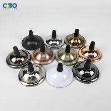Ceiling Plate Lamp Base DIY Round Iron+ Lock line Black/White/Gold/Silver/  66mm Pendant Lamp Base ceiling plate lamp base diy round iron lock line black white gold silver 66mm pendant lamp base
