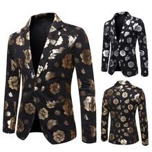 Jacket for Men Spring Autumn Suit Hot Stamping Slim Fit Male Blazer Fashion Formal Man