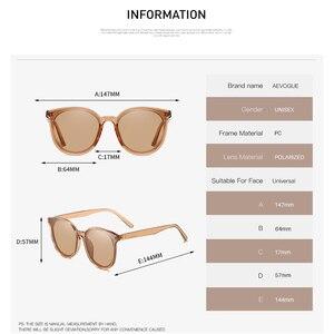 Image 4 - AEVOGUE New Polarized Sunglasses Women Popupar Transparent Round Retro Fashion Sun Glasses Vintage Oculos Unisex UV400 AE0845