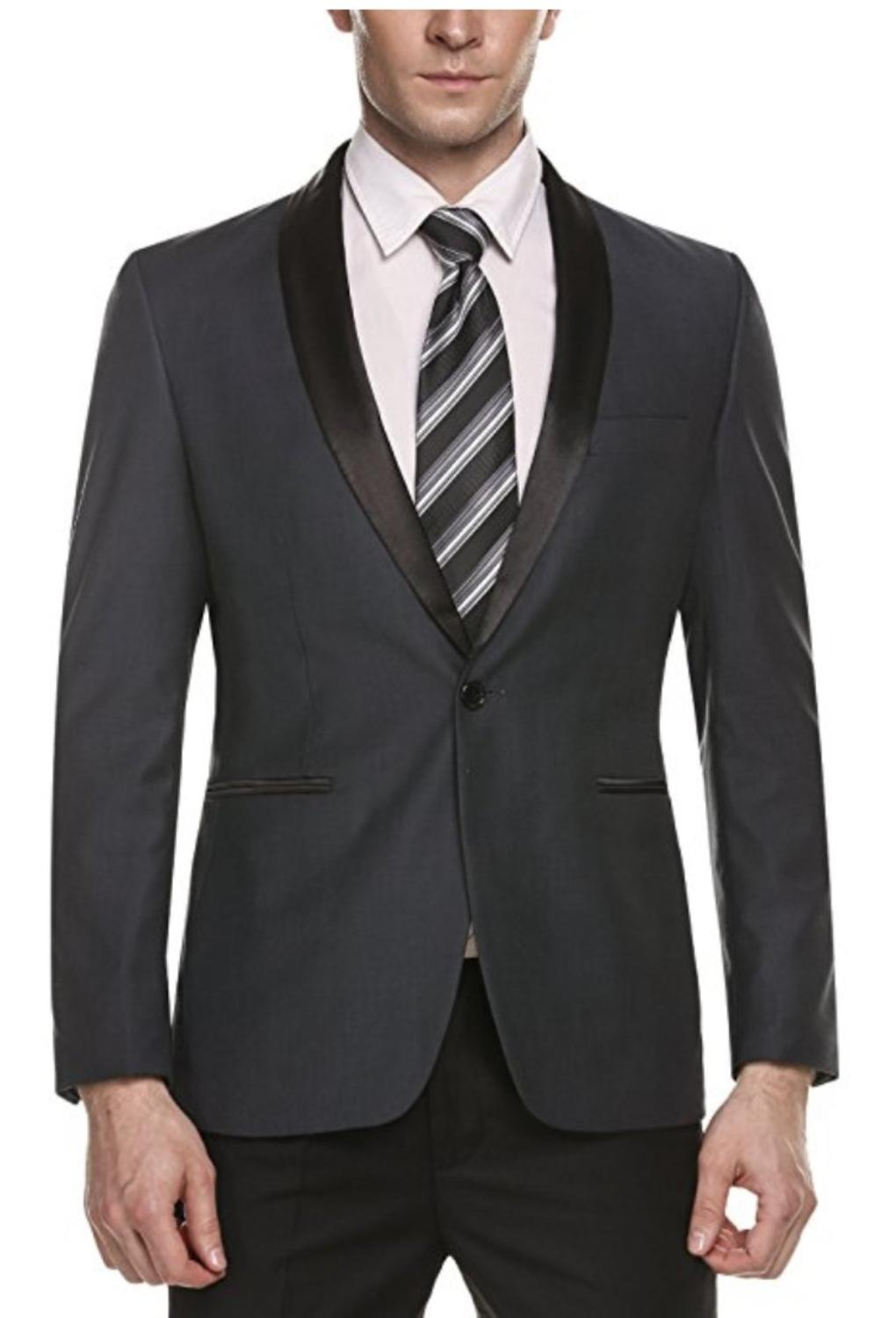 Men's Slim Fit Stylish Casual One-Button Suit Coat Jacket Business Blazers For Casual Business Formal Occasions Wedding Party