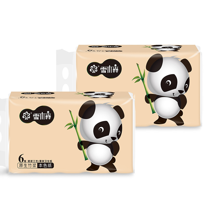 Bamboo Pulp Roll Paper Toilet Paper 6 Volume