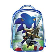 13 Cal Super Mario plecak dzieci Cartoon Sonic plecaki chłopcy dziewczęta tornister dla przedszkola codzienny plecak dla dzieci BookBag tanie tanio Delune NYLON zipper school bag Animal prints 24cm Torby szkolne Dziewczyny 14 5cm 33cm 0 4kg