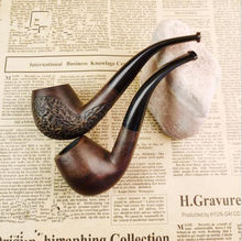 New Bent Round Traditional Style Wood Nature Handmade Tobacco Smoking Pipe(China)