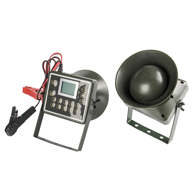 PDDHKK 2 x 60W 160dB Speaker Bird Caller Goose Duck Owl Hunting Decoy 210 Bird Voices MP3 Player Loudspeaker with Timer DC12V