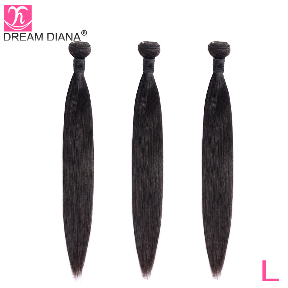 DreamDiana Indian Silky Straight Hair 1/3 Bundles 8