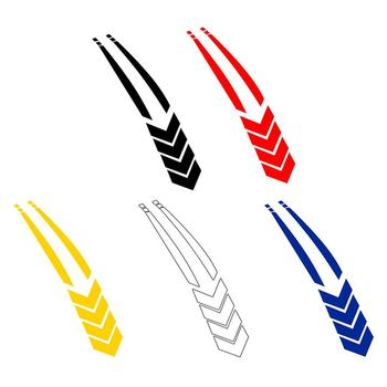 Car Stickers Stripe Fender Reflective Line for HONDA CR80R 85R CRF150R CR125R 250R CRF250R CRF250X CRF450X image