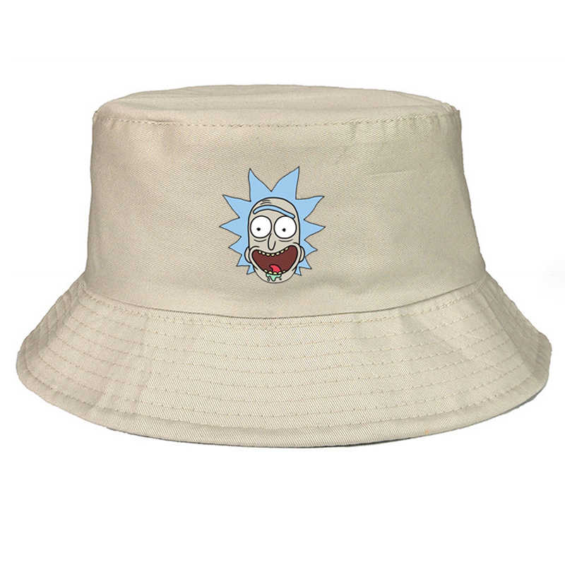 Unisex Bucket Hats rick and morty print Fishing Outdoor Hip Hop Cap Men's Summer Fisherman Hat Women Bone Feminino funny cap