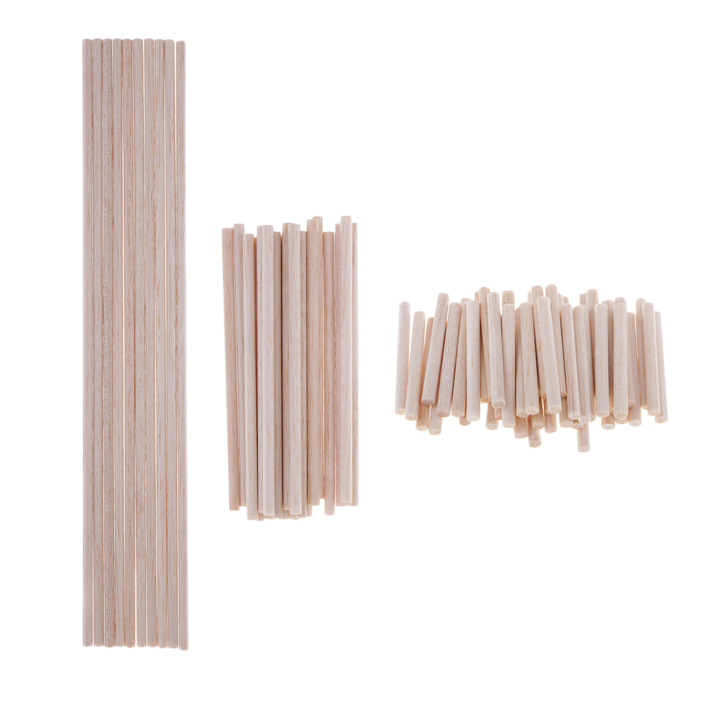 Pack 10/20/50 Balsa Wood Dowels Rods Sticks Lightweight Wood Multipurpose Wood - 5mm Diameter, 50mm 120mm 300mm Long