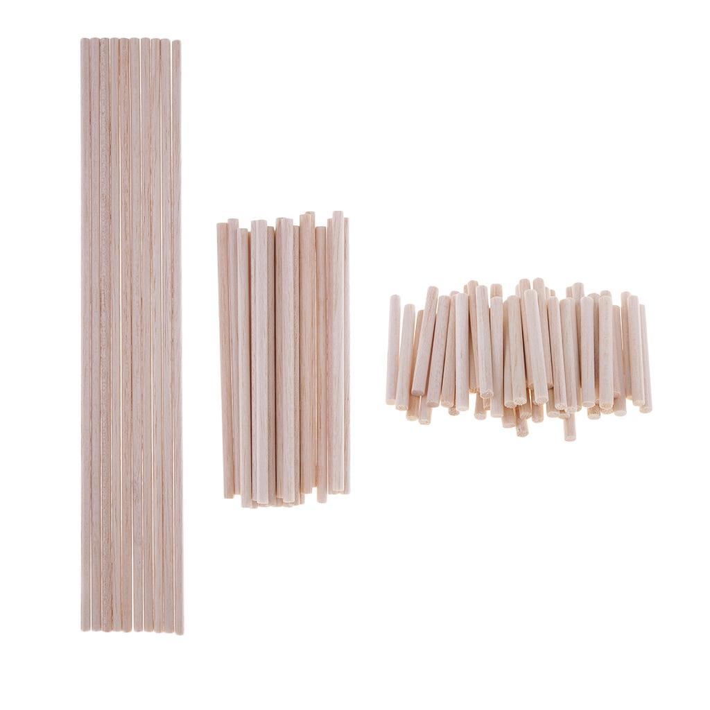 Pack 10/20/50 Balsa Wood Dowels Rods Sticks Lightweight Wood Multipurpose Wood - 5mm Diameter, 50mm 120mm 300mm Long