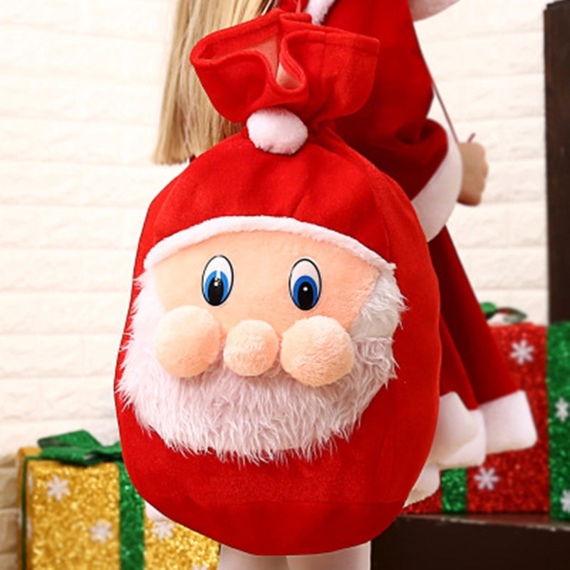 Christmas Gift Kids Bags Santa Claus Big Backpack New Year Banquet Gifts Holders Bag Home Party Decal Christmas Decorations