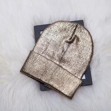 Новая зимняя женская Лыжная Шапка утолщенная Спортивная сноубордическая Позолоченная серебряная вязаная шапка модная повседневная теплая шапка для катания на лыжах