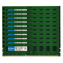 Elicks 10 pces 2gb ddr3 1333mhz pc3-10600u memória de mesa dimm 240 pinos ram 1.5v não-ecc